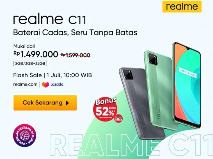 Murah, Spesifikasi HP Realme C11 Cocok Bagi Gamers Baterai Awet