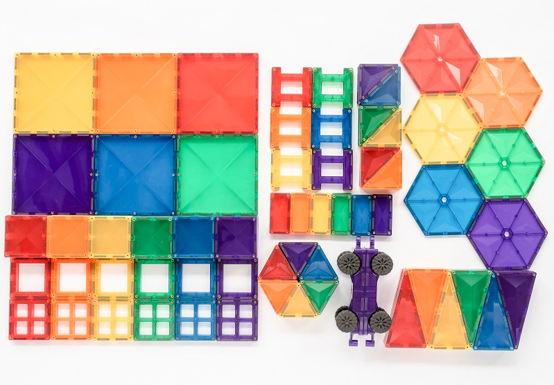 new connetix 212pc mega pack including hexagons and car bases