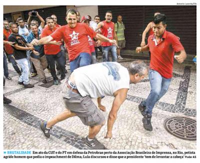 VIOLÊNCIA - Presidente do PT no Rio, prega 'luta aberta' nas ruas se Lula for condenado
