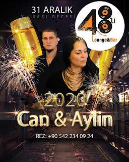 48'li Lounge & Bar Bodrum Yılbaşı Programı 2020 Menüsü