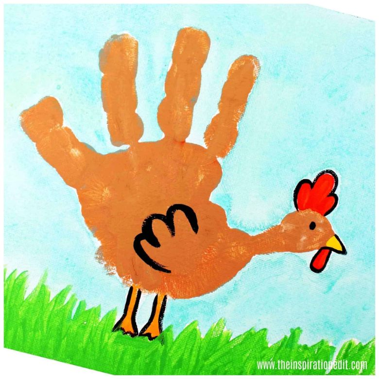 Chicken handprint art