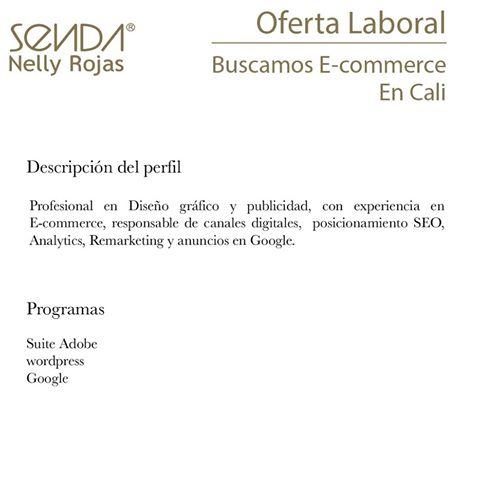 Oferta de Trabajo y Empleo en Cali como E-commerce Mujer