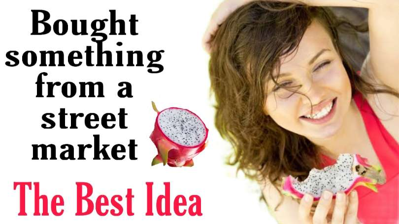 Describe a time you bought something from a street or outdoor market