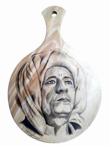 Lukis Pirografi Tokoh Nasional - Habib Luthfi - Pekalongan