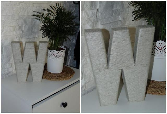 DIY : Literka z kartonu i sznurka