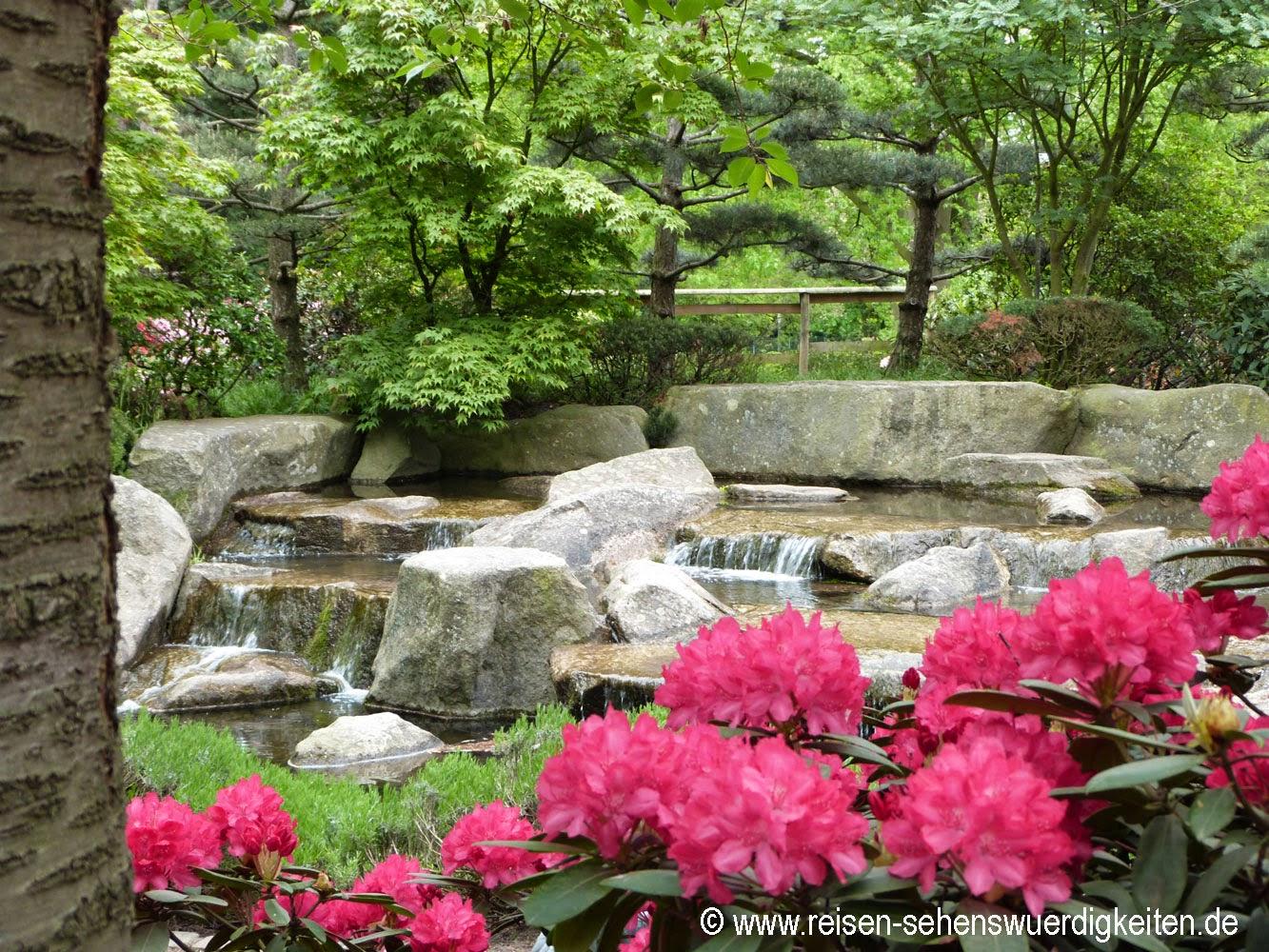 Planten un Blomen - Schönster Park in Hamburg, Wasserfall