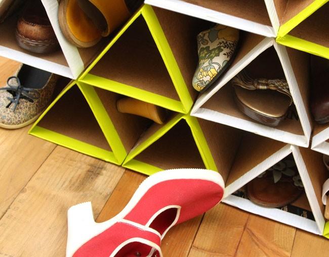 Como hacer un organizador de zapatos con carton ingeniando - Organizador de zapatos casero ...