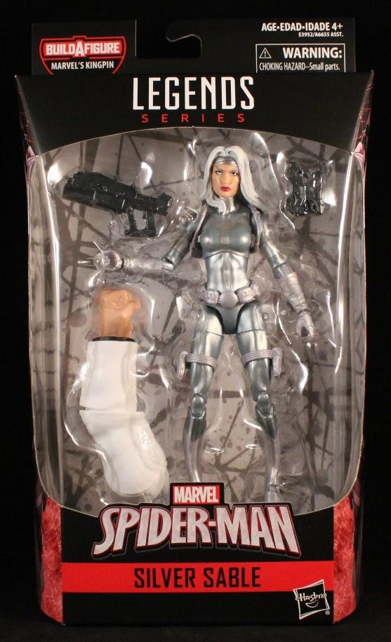KINGPIN BAF Left Arm L from Marvel Legends Silver Sable
