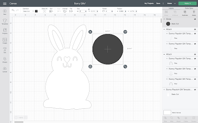 Free Printable Easter Classroom Gift - PlayDoh Tummy Bunnies Tutorial with Cricut Maker