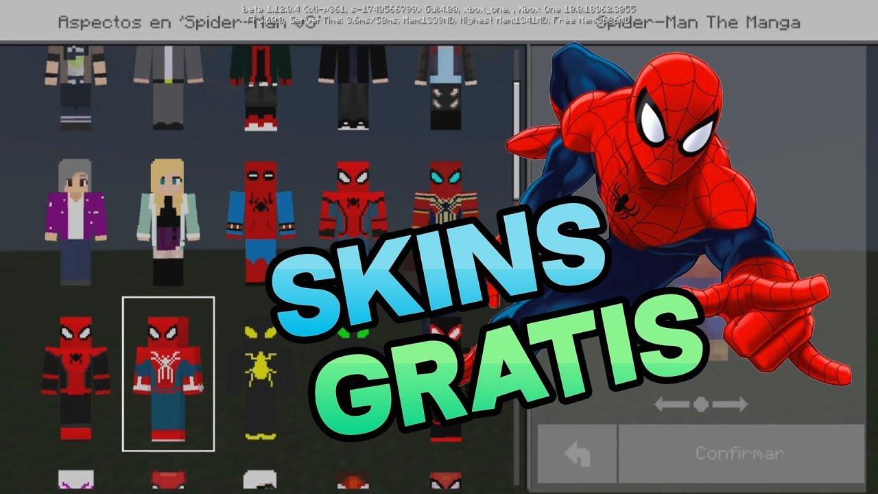 Nuevo SKIN PACK SPIDERMAN (Todos los trajes) Minecraft PE