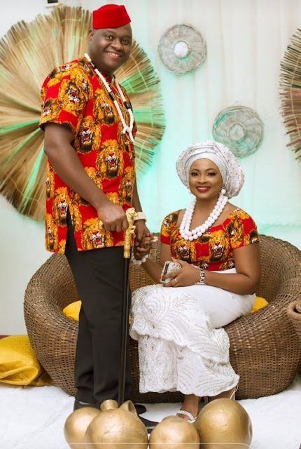 Clinic Matters star Nkechi Emmanuel AKA Nurse Titi and Ambrose Amara traditional wedding photos
