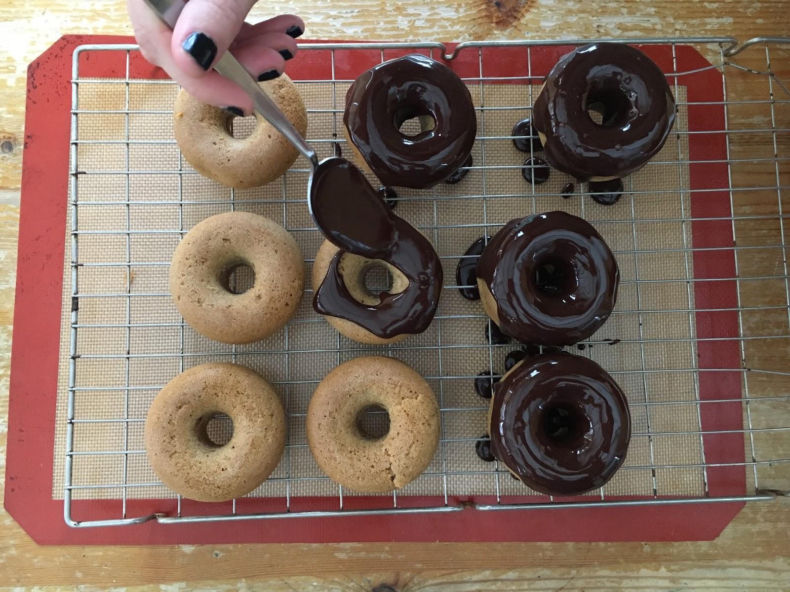 Vegan Cinnamon Donuts With A Chocolate Glaze