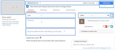 Cara Terbaru Mudah dan Cepat Upload Video ke YOUTUBE