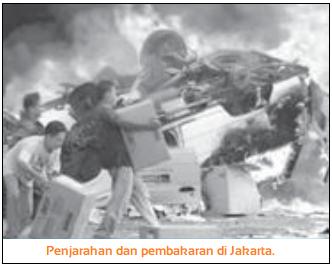 Kerusuhan Mei 1998 - Penjarahan dan pembakaran di Jakarta