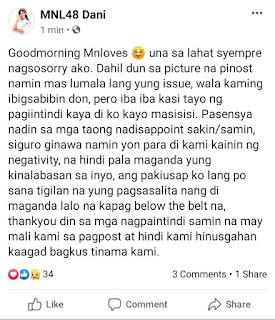 MNL48 Dani was hit by hilarious scandal skandal foto