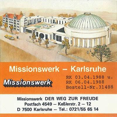 brotbeutel Missionswerk Karlsruhe