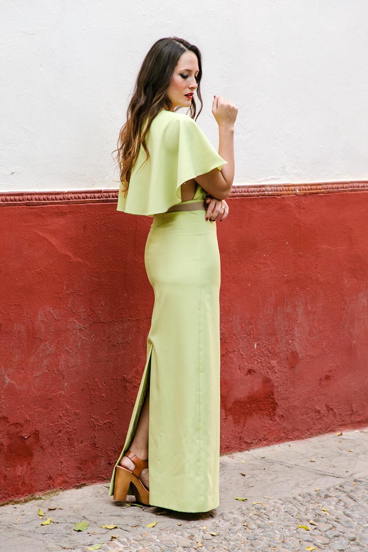 Vestidos fiesta verde pistacho