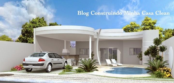 moderna com telhado escondido e garagem aberta