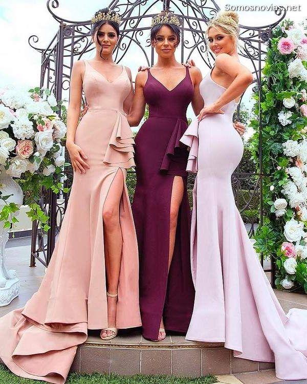 Cortar procedimiento como resultado  Vestidos de Dama de Honor 2020 ▷ 50 Increíbles Tendencias con Imágenes |  Somos Novias