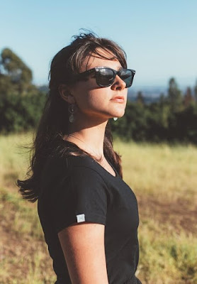 woman wearing black hydrophobic dress