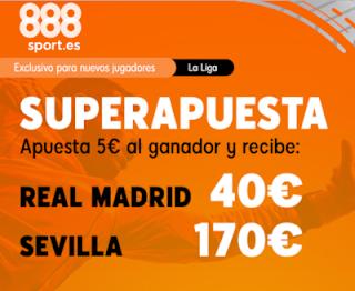 888sport superapuesta liga Real Madrid vs Sevilla 18 enero 2020