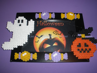 Marco de fotos decorado con Hama Beads