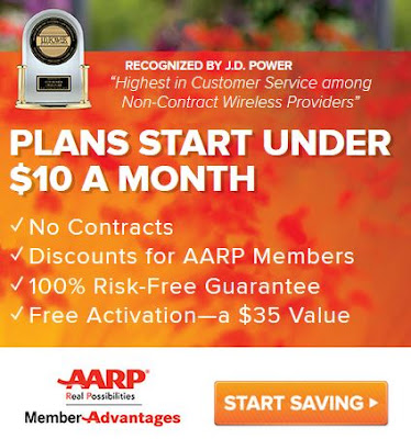 consumer cellular aarp cell phone service