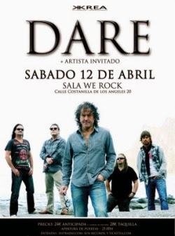 Conciertos de Dare en Madrid, Bilbao y Zaragoza en abril