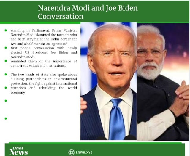 Modi's phone conversation with Joe Biden, a message of democratic values, talks about the Farmer Protest