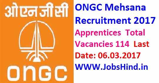 ONGC Mehsana Recruitment 2017 Ke Liye| Apprentices
