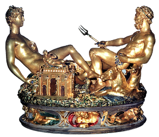Cellini's extraordinary salt cellar in gold is insured for a value of $60 million