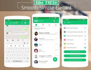 Download BBM MOD Smooth Green Fresh lite V3.1.0.13