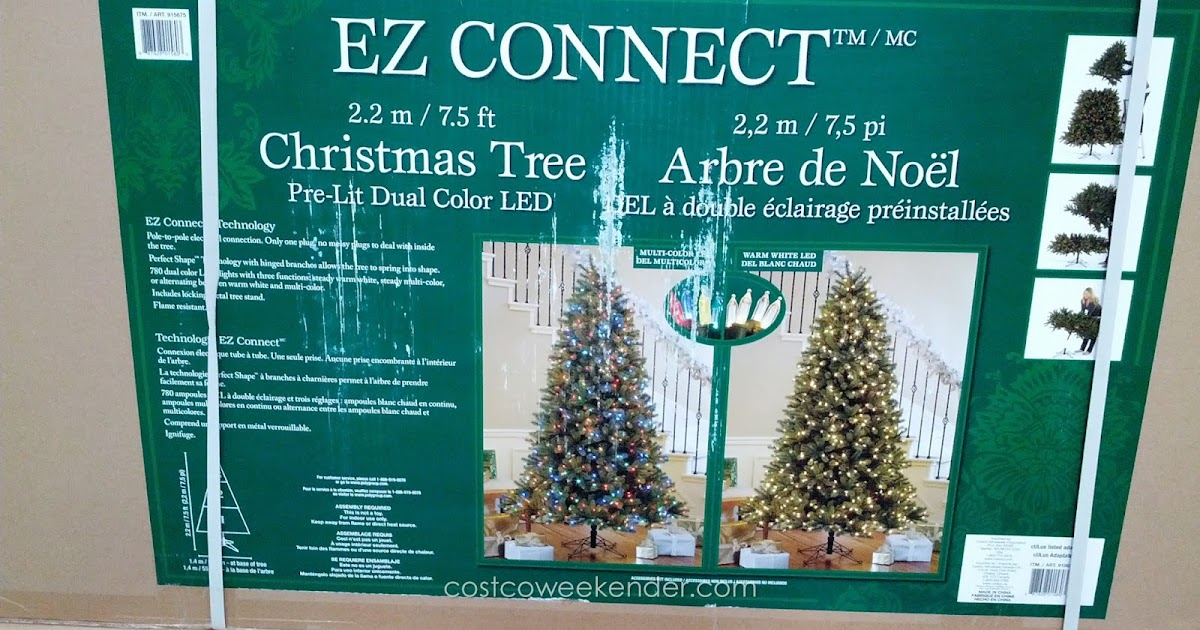 Pre-Lit Dual Color LED EZ Connect 7.5' Christmas Tree