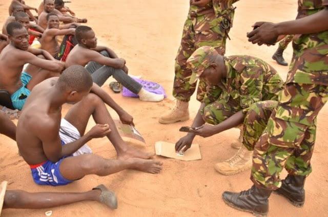 KDF recruitment exercise in Mombasa Photo
