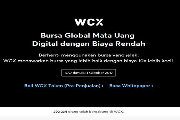 Giveaway ICO Gratis 50 WCX 1 Token = 5 USD
