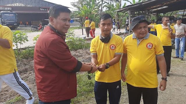 Duo Datuk ,Resmikan Pemakaian Lapangan Sepak Takraw Porgerus Surau Jambu Lubuk Lintah | dutametro