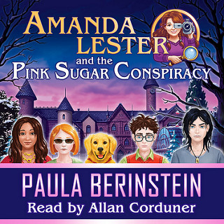 audiobook cover Amanda Lester and the Pink Sugar Conspiracy