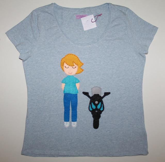 camiseta personalizada motera moto