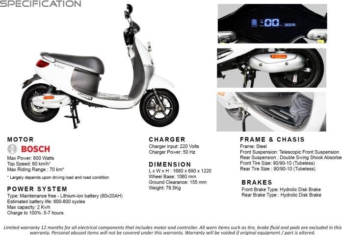 Lebih dekat dengan spesifikasi Viar Q1, skutik listrik dengan desain futuristik