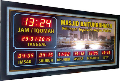 Hasil gambar untuk jam digital masjid