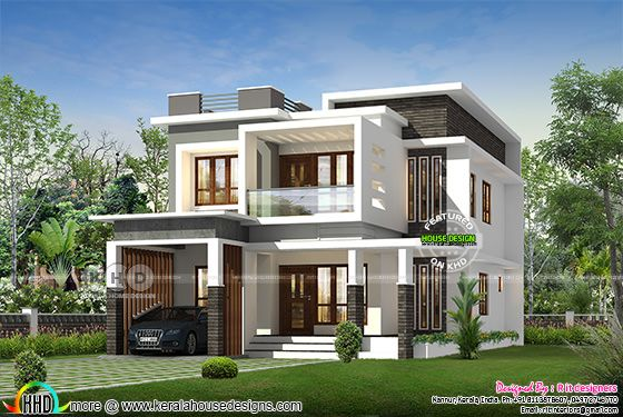 Box model contemporary house 2153 sq-ft