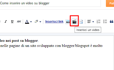 Come inserire un video su blogger