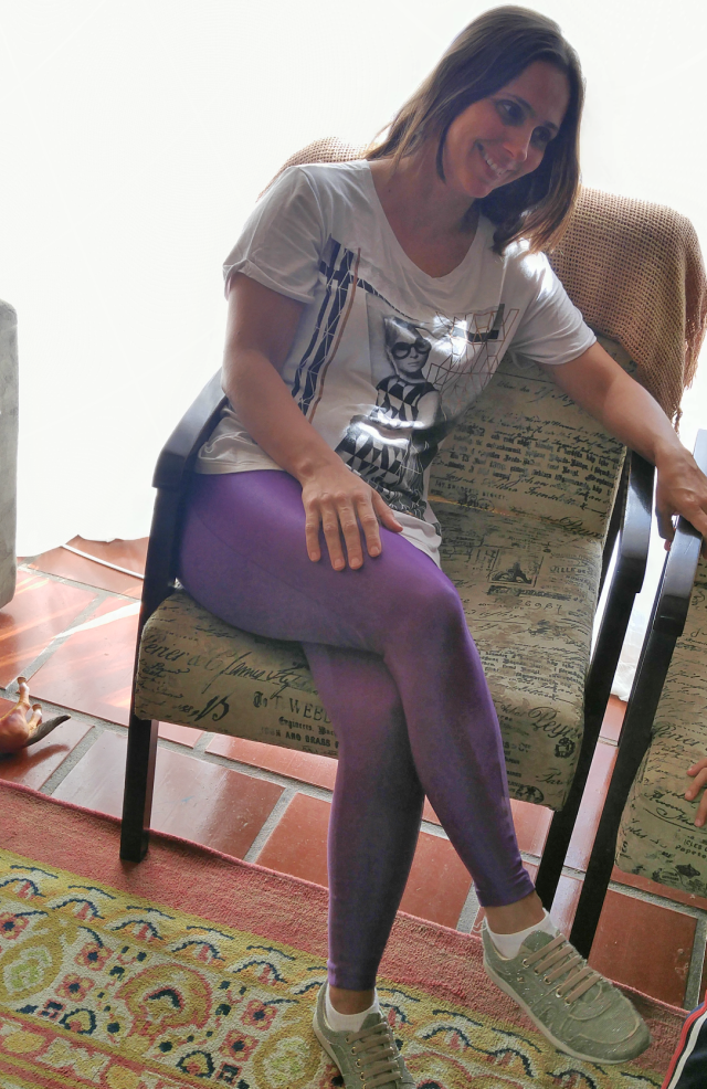Legging roxa da Live