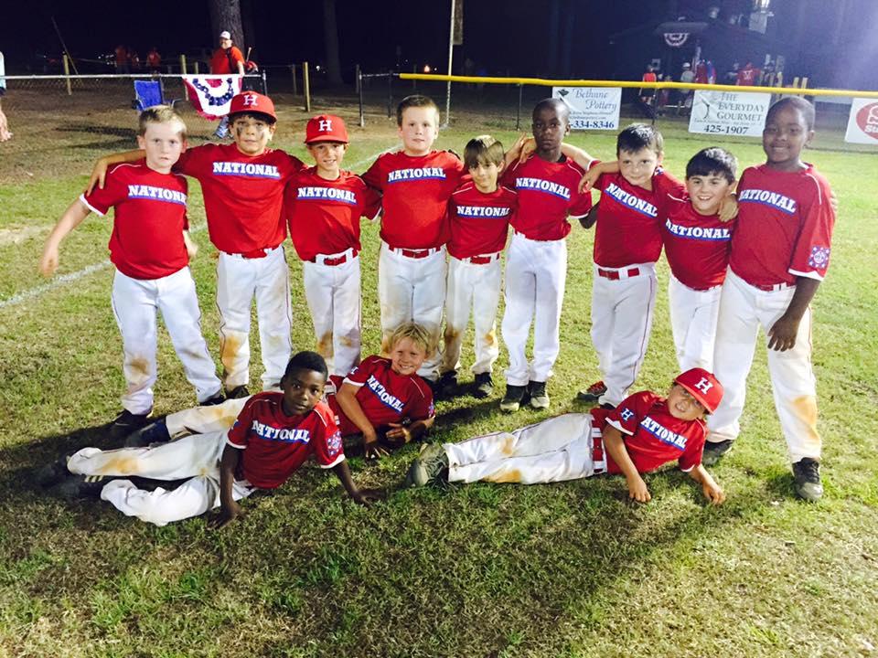 Hartsville National Dixie Youth Baseball: 2015