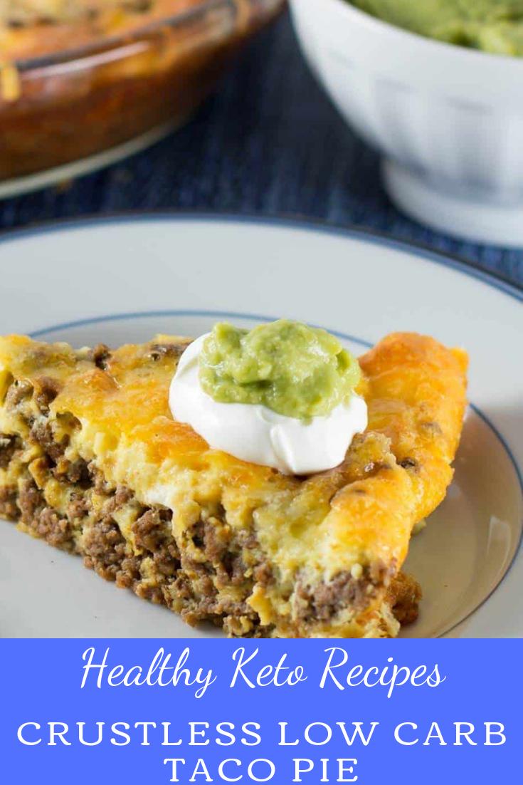 #Crustless #Low #Carb #Taco #Pie #keto #healthyrecipe #breakfast
