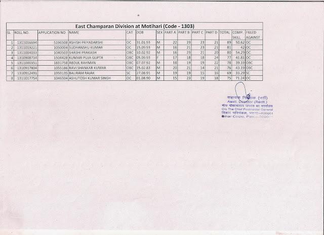 Postal Examination: Bihar Circle : PA / SA examination