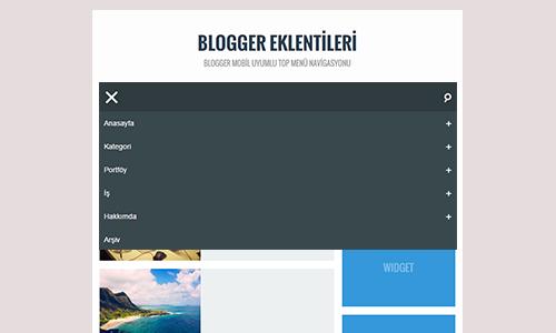 Blogger Mobil Uyumlu Top Menü Navigasyonu