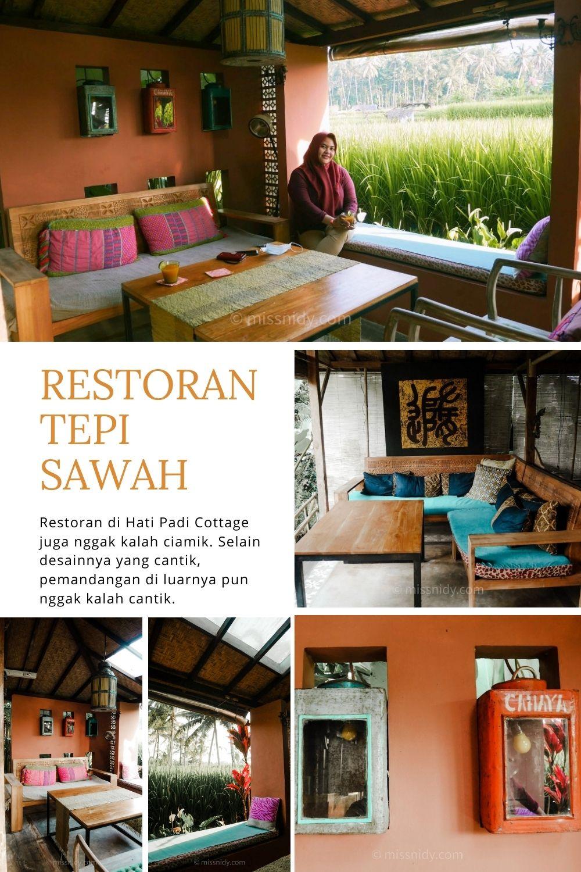 restoran tepi sawah di ubud hati padi cottage