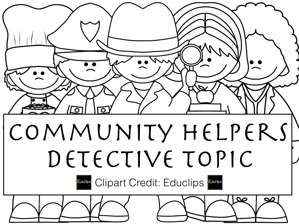 Community Helpers Clipart Black And White