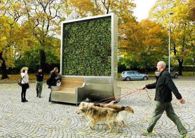 275 Ağacın Yaptığı Hava Temizleme İşini Tek Başına Yapan Cihaz Geliştirildi : CityTree